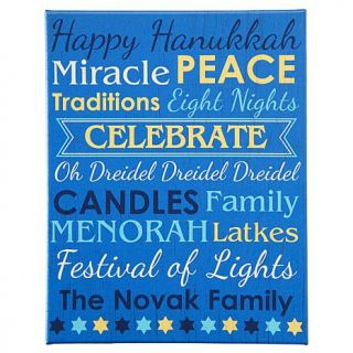 """Personal Creations Personalized All About Hanukkah Canvas   11"""" x 14""""   8186427"""