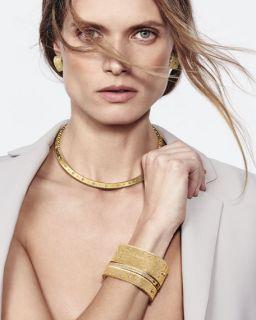 Roberto Coin Princess 18K Yellow Gold Diamond Bar Earrings