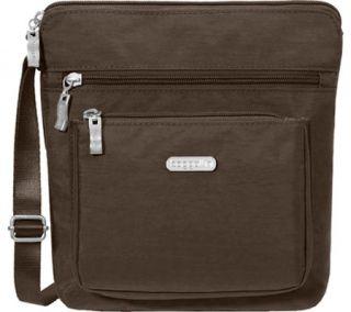 Womens baggallini POC879 Pocket Crossbody Bag   Mocha   FREE Shipping & Exchanges