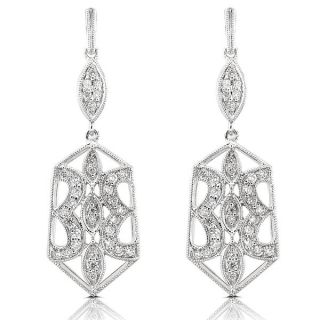 Annello 14k Gold 1/2ct TDW Geometric Diamond Earrings (H I, VS1 VS2