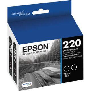 Epson T220 DURABrite Ultra Black Ink Cartridge Dual T220120 D2