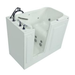 American Standard Exclusive Series 48 in. x 28 in. Walk In Whirlpool Tub with Quick Drain in White 2848.409.WLW PC