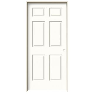 Jeld wen snow storm prehung hollow core 6 panel interior door jeld wen snow storm prehung solid core 6 panel interior door actual 81688 in x planetlyrics Gallery