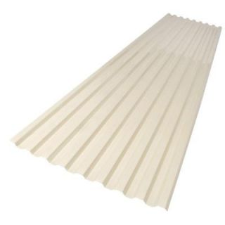 Suntop 26 in  x 8 ft  Foamed Polycarbonate Roofing Panel in Sedona